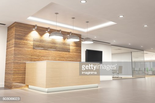 modern office reception stock photo getty images