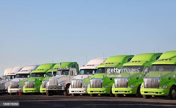 Modern Parked Truck Fleet