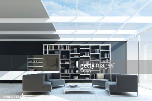 Int rieur moderne appartementterrasse photo getty images - Photo interieur appartement moderne ...