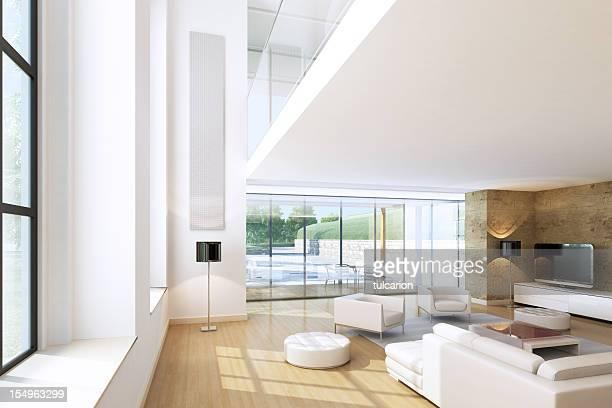 Moderne salle de séjour d'une suite Penthouse