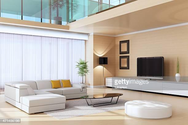 Chambre moderne de la suite Penthouse