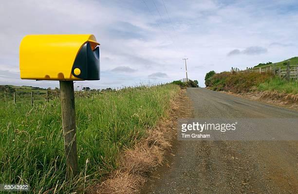 Modern plastic mailbox North Island New Zealand