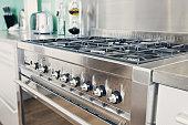 Shot of a Modern Range Cooker in Kitchen