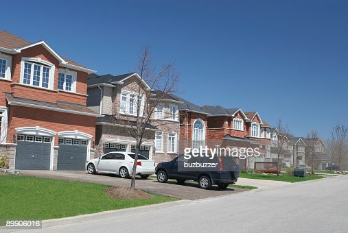 Modern Residential Neighborhood : Stock Photo