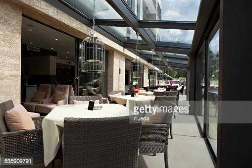 Modern restaurant interior : Stock Photo