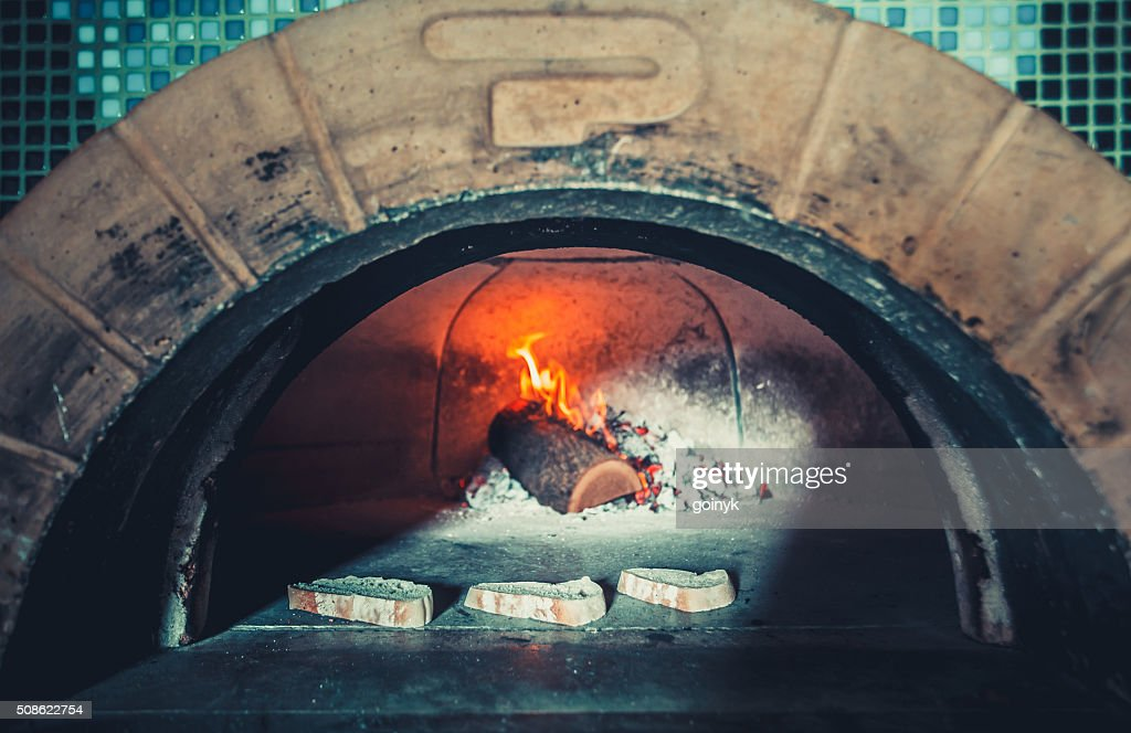 modern restaurant with fireplace : Stock Photo