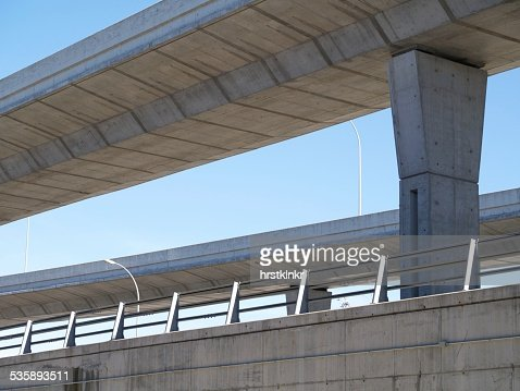 modern road concrete madrid : Stock Photo