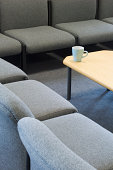 Seating area in a modern school staff room.
