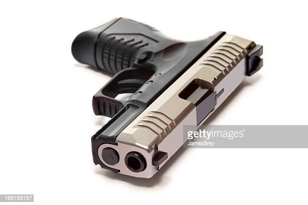 Moderne Semiautomatic Pistole, isoliert auf weiss