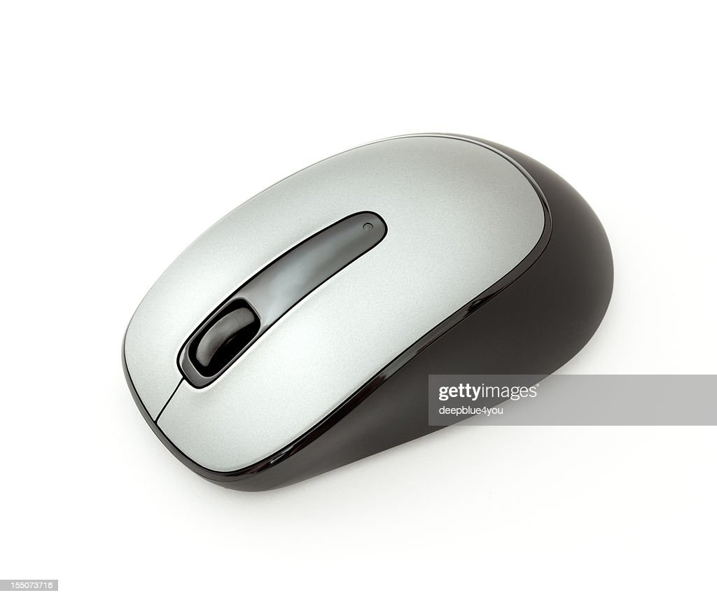 modern pc mouse on white