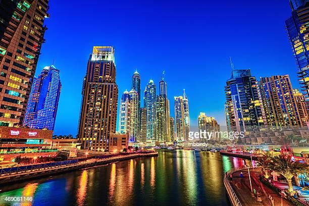 Modern skycrapers in Dubai marina