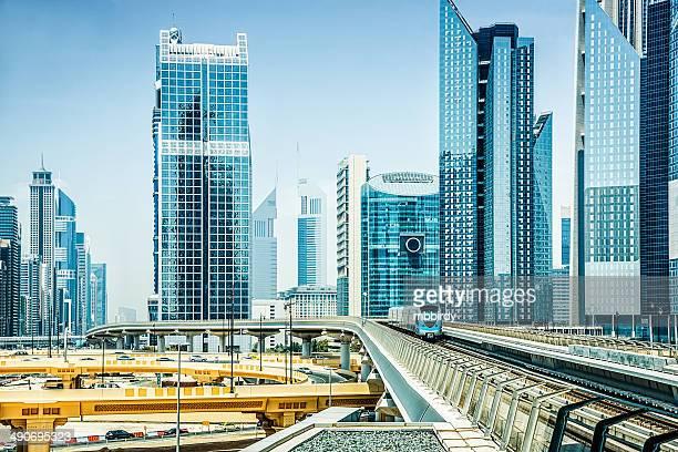 モダンな skycrapers ドバイ、アラブ首長国連邦