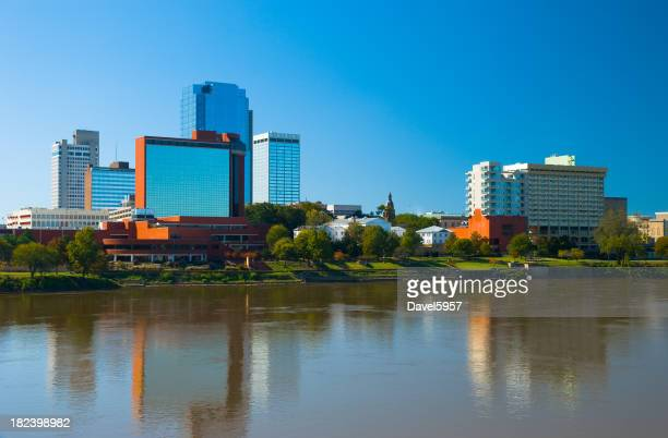 Modern skyline and river of Little Rock