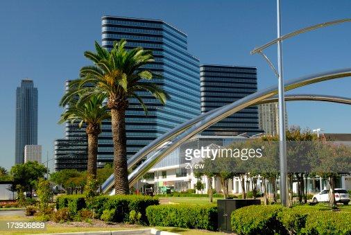 Edifícios de escritórios modernos Arranha-céu e Houston, Texas subúrbios Galeria área