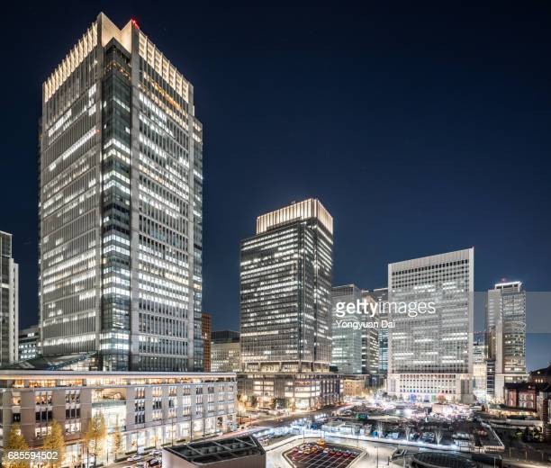 Modern Skyscrapers in Tokyo at Night