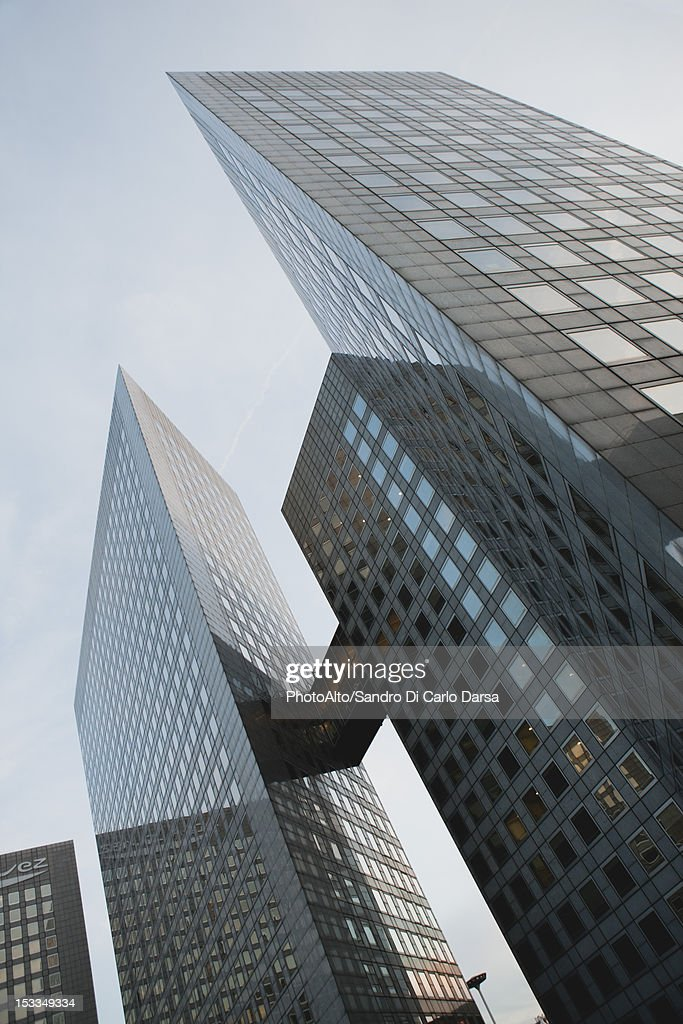 Modern skyscrapers, low angle view : Stock Photo