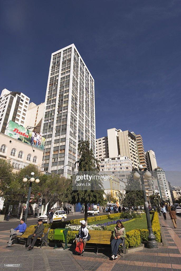 Modern skyscrapers on Paseo El Prado.