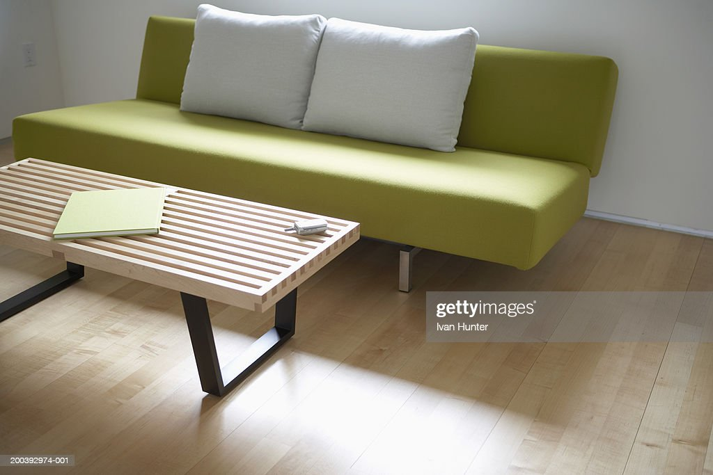 Modern sofa and coffee table : Stock Photo