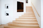 Modern staircase and wall art