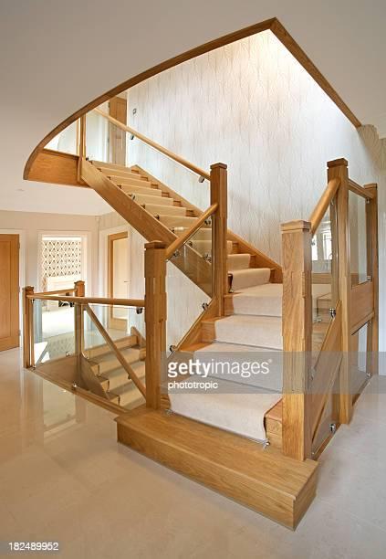 Moderne Treppe in ein luxuriöses neues Zuhause