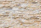 Close-up of modern stone wall tiles background texture