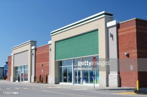 Modern Store Building Exterior : Stock Photo