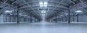Large modern empty storehouse. Very big resolution panorama.