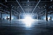 empty modern storehouse