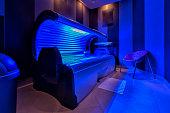 Modern sunbed in a beauty salon