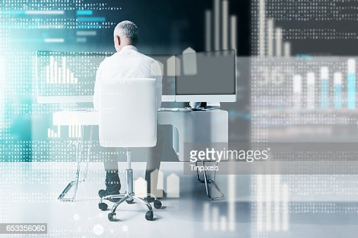 Modern technology gives him the edge : Stock Photo