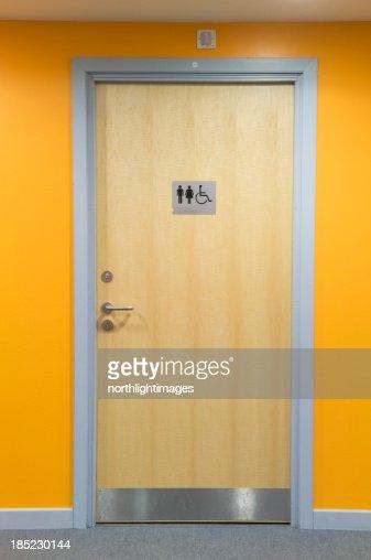 Modern toilet door