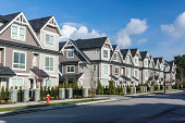 """""""A row of a new townhouses in Richmond, British Columbia"""""""