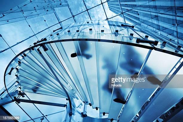 Moderne transparente Treppe
