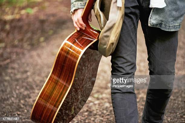 Modern traveling minstrel