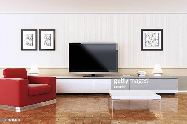 Moderno interior de TV