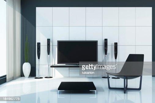Modern Tv Room modern tv room stock photo | getty images