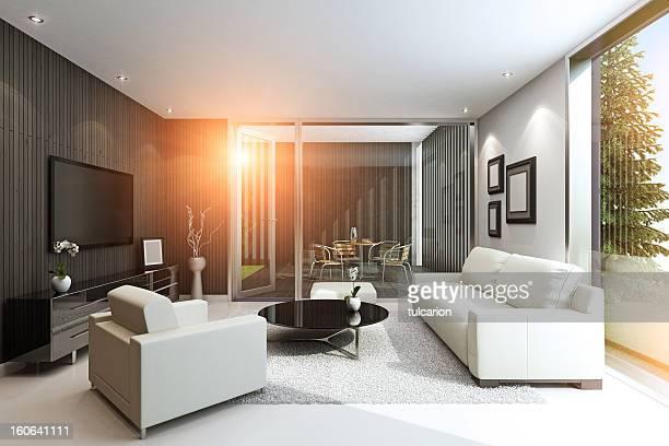Villa moderne en été
