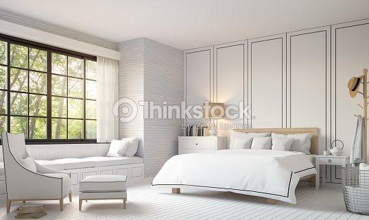 Chambre Vintage Moderne Noir Et Blanc Des Images De Rendu 3d Photo ...