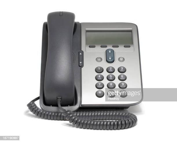 Modern VoIP phone (isolated on white)