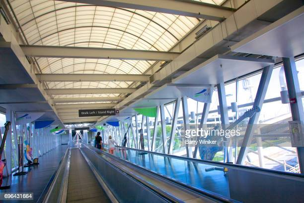 Modern walkway at Cleveland Airport