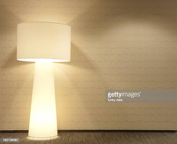 Modern wall with standing lamp