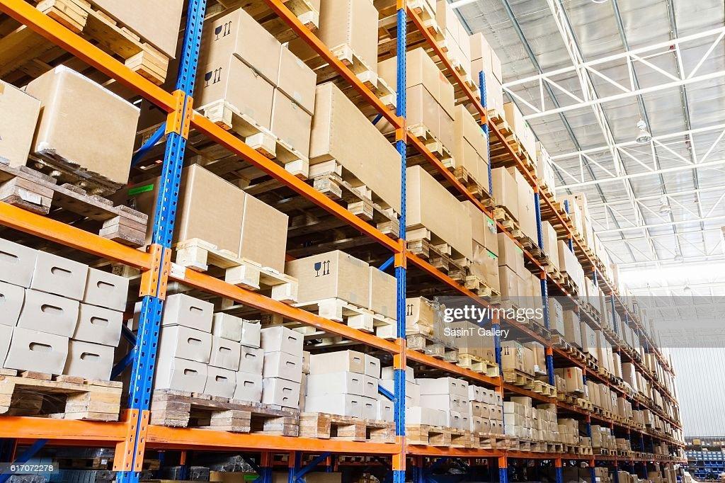 Modern warehouse : Stock Photo
