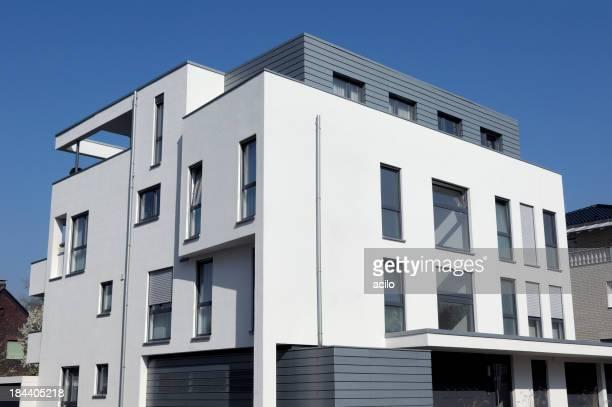 Modern white apartment house