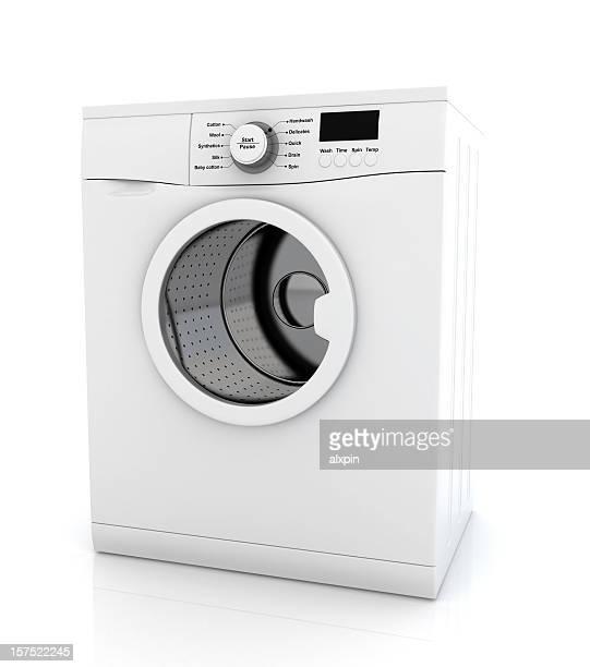 Modern white washing machine appliance