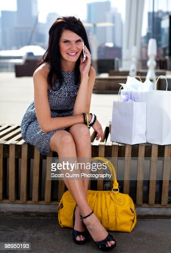 Modern Woman Shopping. : Stock Photo