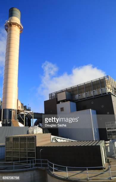 Modern wood burning power facility, Saint Paul, Minnesota, USA