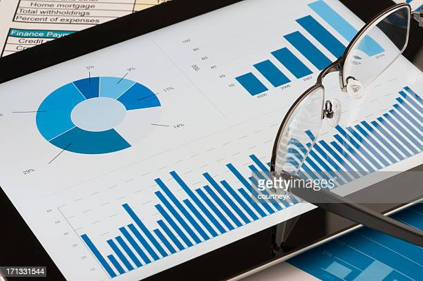 Modern working desk with digital tablet