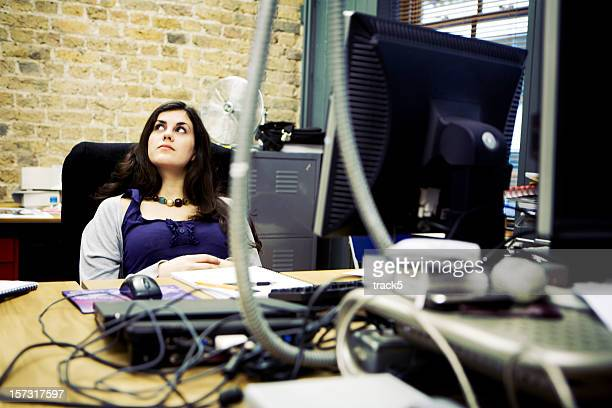 modern workplace: creative professional in contemplation