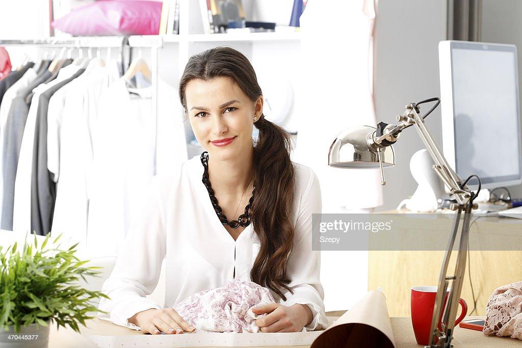 Modern young fashion designer