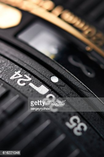 Modern zoom camera lens closeup : Foto stock